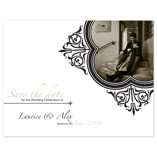 save the date cards - The Oh-So Classy Invitation by Andrea Snaza