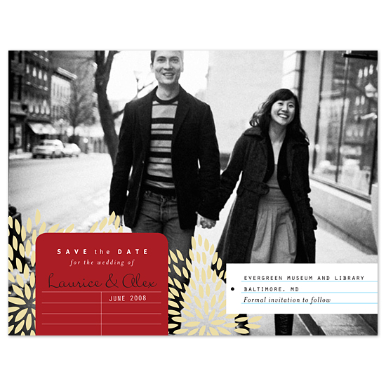 save the date cards - Modern Library by Sweet Paper Studio