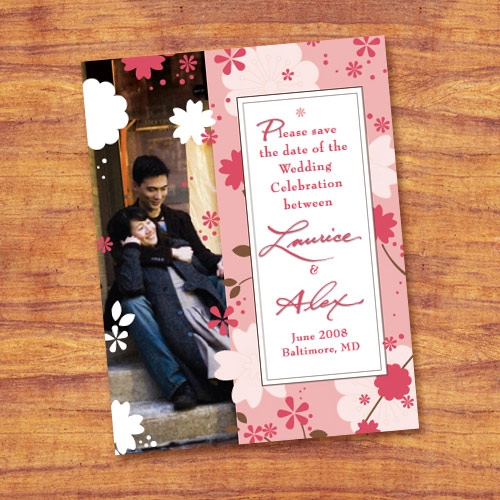 save the date cards - Love Blossoms by Paula's INK  (Paula Sandor)