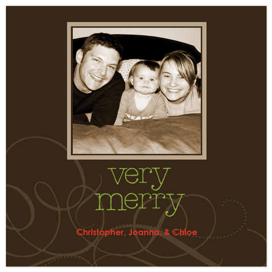 holiday photo cards - square brown with square picture by brandianndesigns