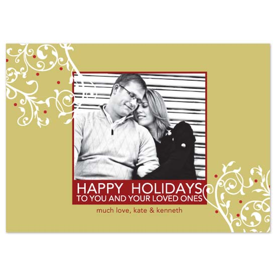 holiday photo cards - Christmas Vines by Linzmarie Designs