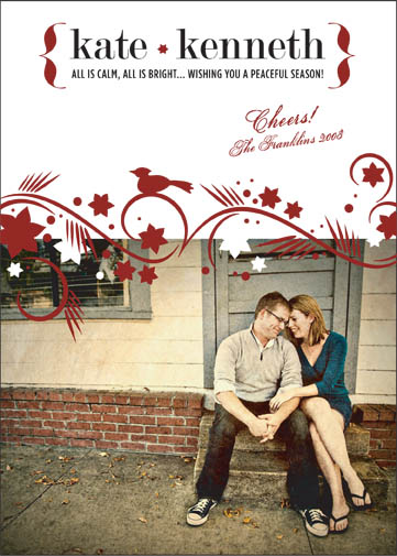 holiday photo cards - Cheery Winter Swirl by Sarah Pattison