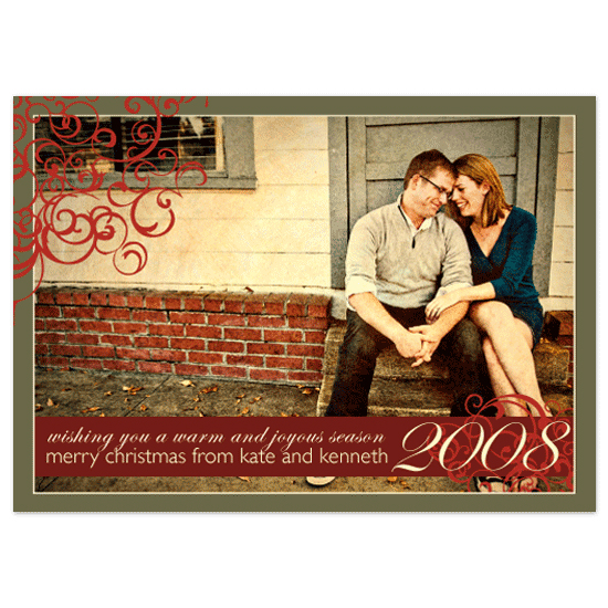 holiday photo cards - Swirls and Warmth by Notably Krystal