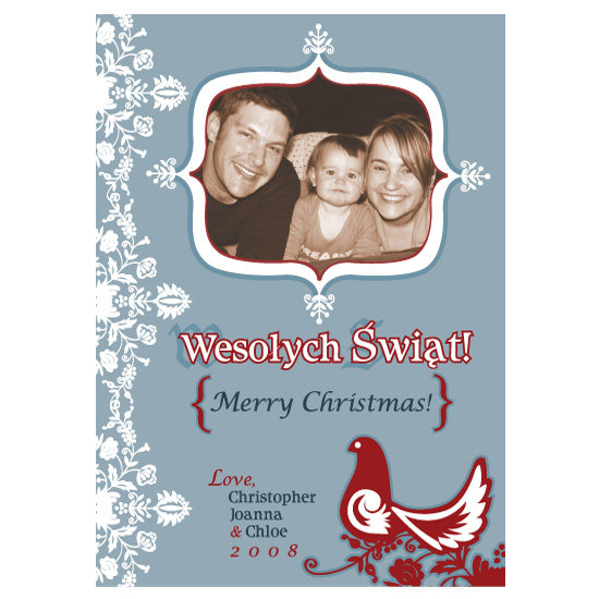 holiday photo cards - A Polish Greeting by Paula's INK  (Paula Sandor)