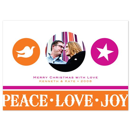 holiday photo cards - Peace Love Joy by Tara Hanneman