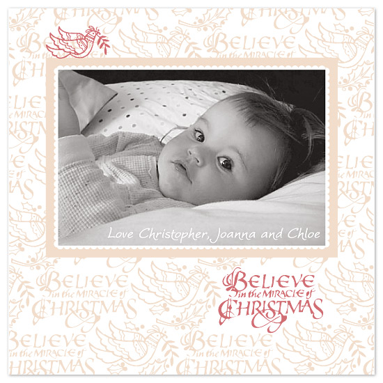 holiday photo cards - Believe in the miracle of Christmas by Chamelle Designs