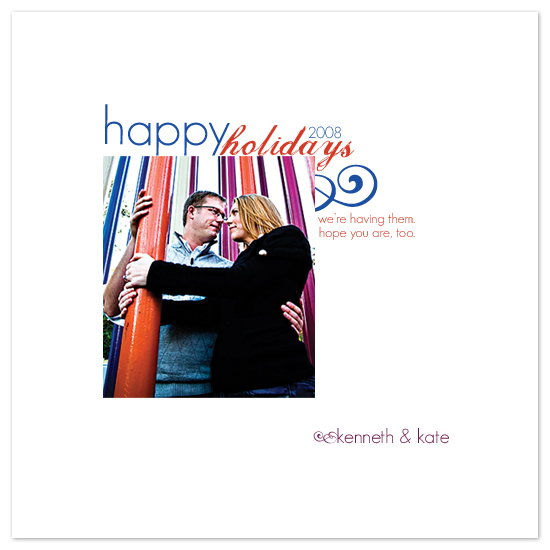 holiday photo cards - Funky. Fresh. First {Holiday} by JMc Designs