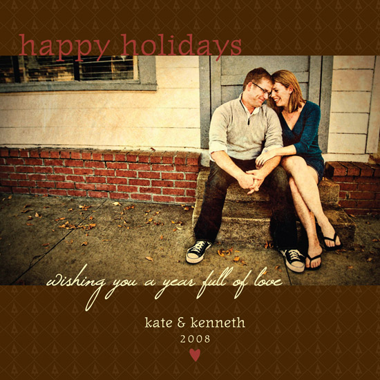 holiday photo cards - Year Full of Love by lucky star press