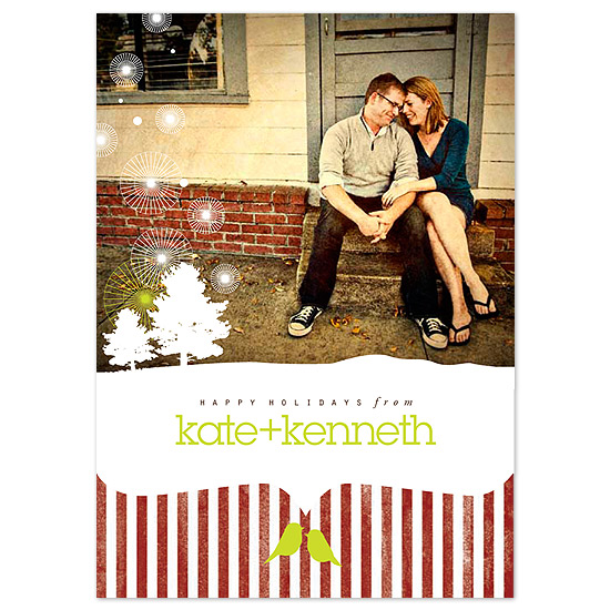 holiday photo cards - Winterscape by Sweet Paper Studio