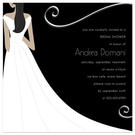 bridal shower invitations - elegant bride by Guess What Design Studio