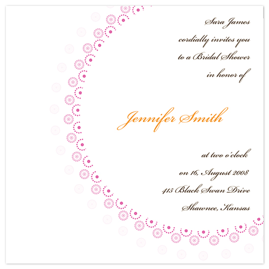 bridal shower invitations - square with circle by brandianndesigns