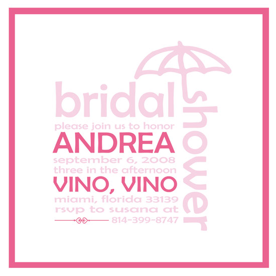 bridal shower invitations - Umbrella by On A Limb Paper