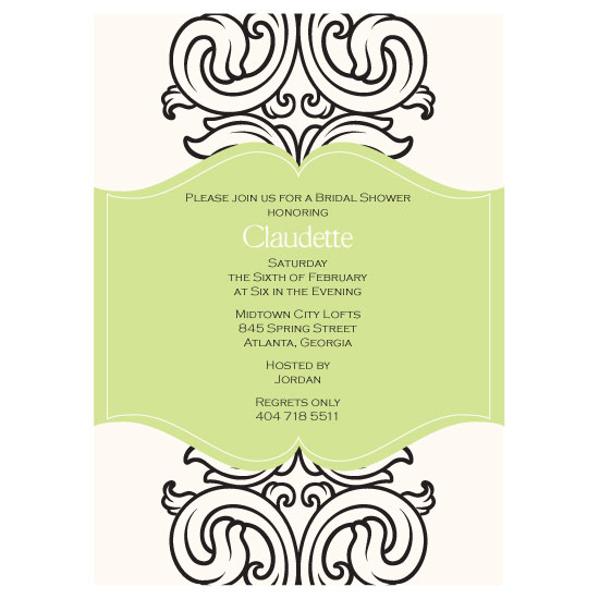 bridal shower invitations - FlourishedwithLove by LOVEkacie