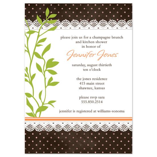 bridal shower invitations - Vintage Kitchen by Michelle Coleman