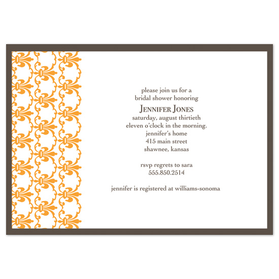bridal shower invitations - Twist of Orange by Michelle Coleman