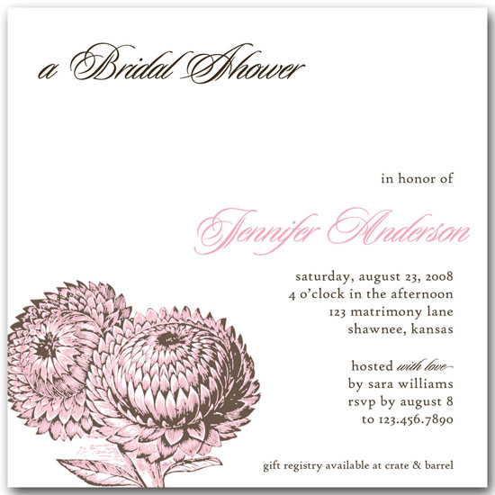 bridal shower invitations - Sweet Blossoms by Ringo Baby