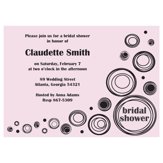 bridal shower invitations - Blush Deco Dots by Katie Peltier