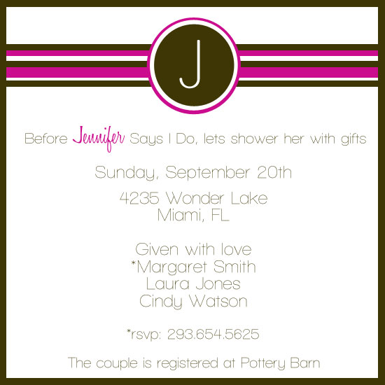 bridal shower invitations - Cute Love by JMHickerson Designs