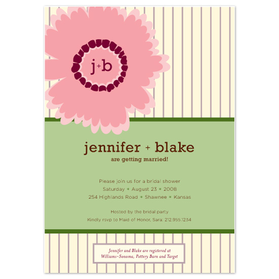 bridal shower invitations - Fresh Cut Floral by Sarah Pattison