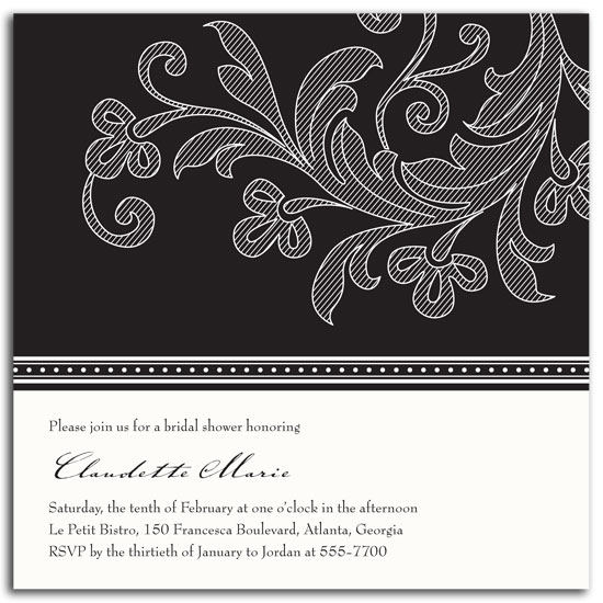 bridal shower invitations - Flourish by sarasponda