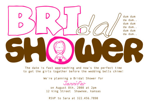 bridal shower invitations - dum dum da dum... by Holly Hatam