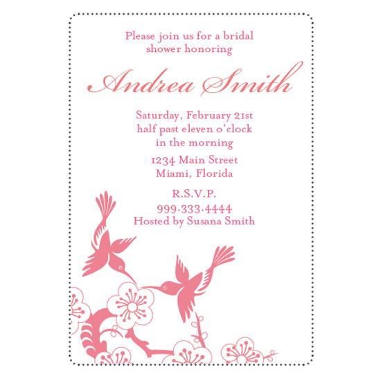 bridal shower invitations - Hummingbirds in Love by Jennifer Jerhoff Telford