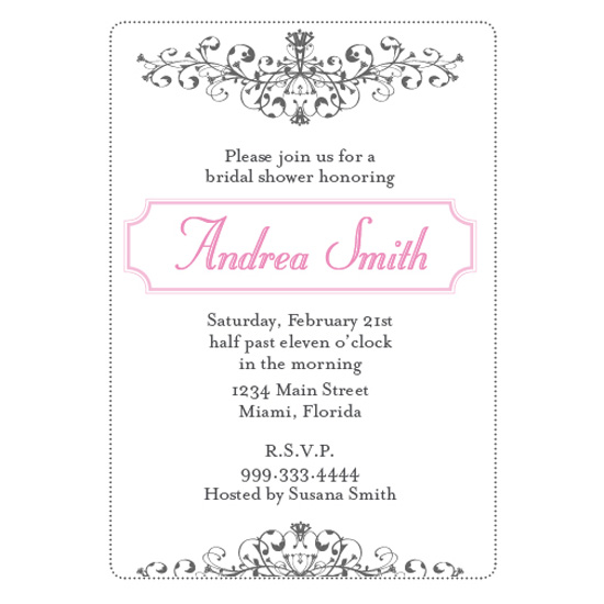 bridal shower invitations - Sweet Scroll by Jennifer Jerhoff Telford
