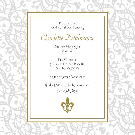 bridal shower invitations - Parisian Elegance by Allison Leutschwager