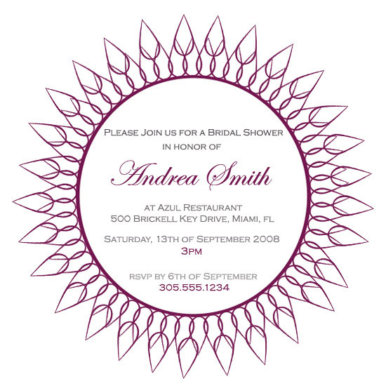 bridal shower invitations - Modern Flora by Hammocks & High Tea