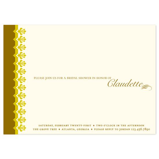 bridal shower invitations - Gilded Elegance by Puppy Love Design