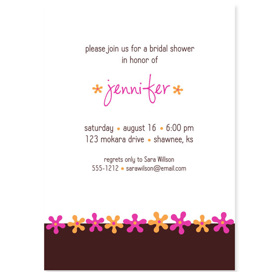 bridal shower invitations - showers of flowers by pook&diesel