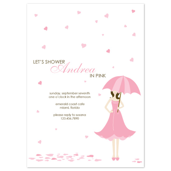 bridal shower invitations - A Pink Party by Puppy Love Design