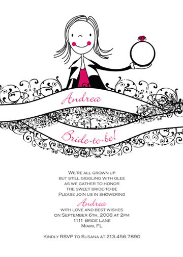 bridal shower invitations - Bride-to-be! by Holly Hatam