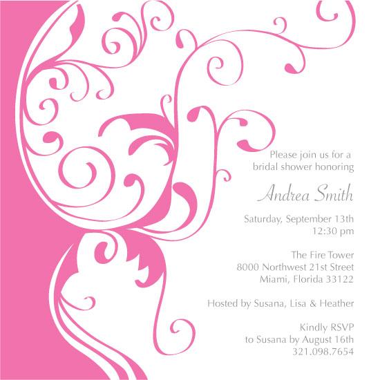 bridal shower invitations - Romantic Whirls by Allison Leutschwager