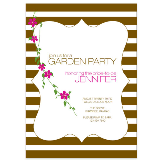 bridal shower invitations - Garden Party by Puppy Love Design