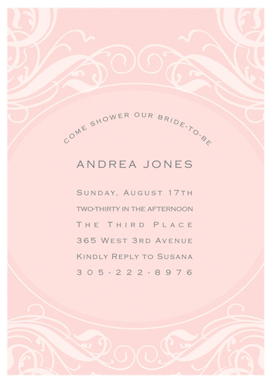 bridal shower invitations - simply lovely by Candis Lee Jones