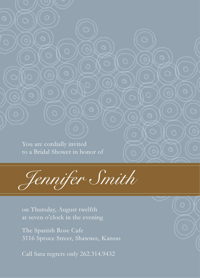 bridal shower invitations - classic beauty by Julia Destrampe