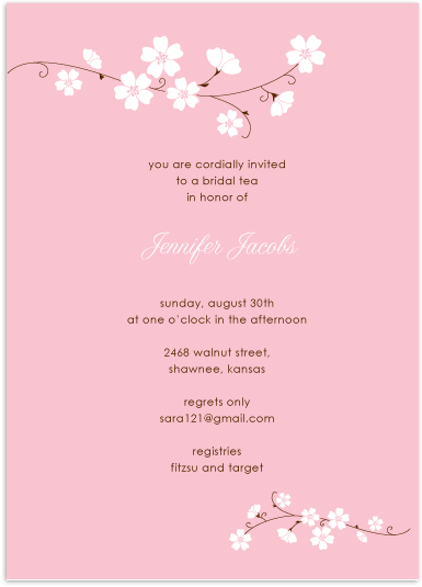 bridal shower invitations - charming florals by Lucky + Lovely