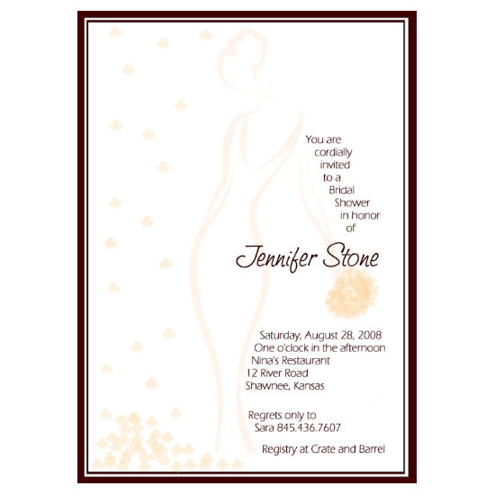 bridal shower invitations - Peach Petals by Grafik Expressions