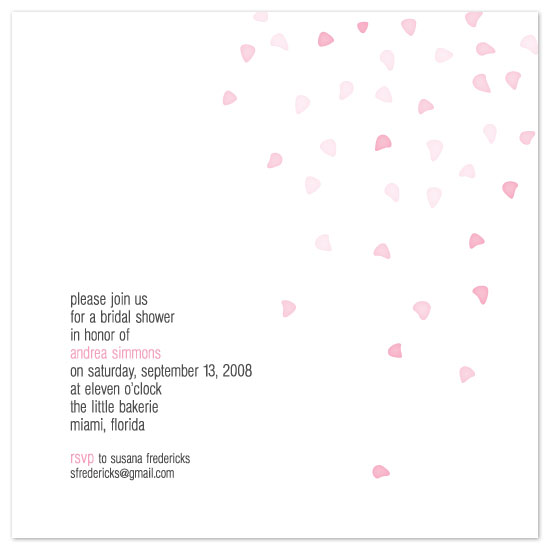 bridal shower invitations - Perfect Petal Shower by Union Paperie