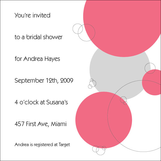bridal shower invitations - Pink Bubble Shower by Kristin Joiner