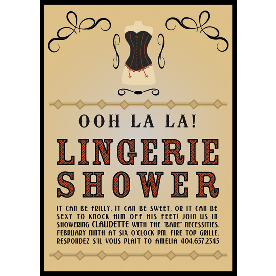 bridal shower invitations Ooh La La at Mintedcom