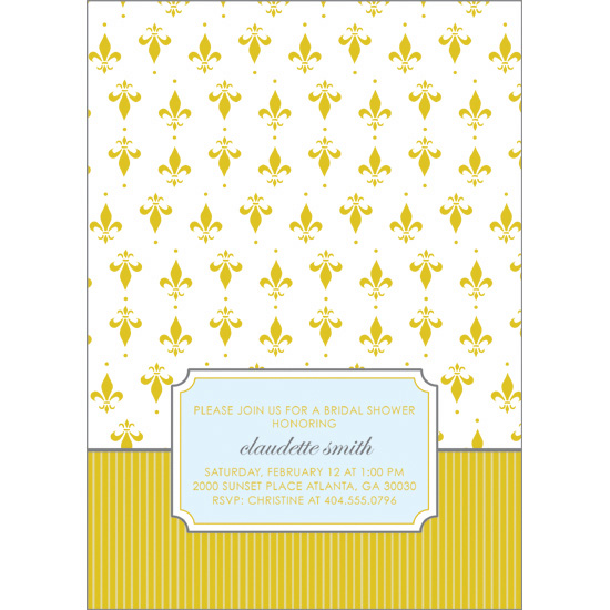 bridal shower invitations - French Wallpaper by Avie Designs
