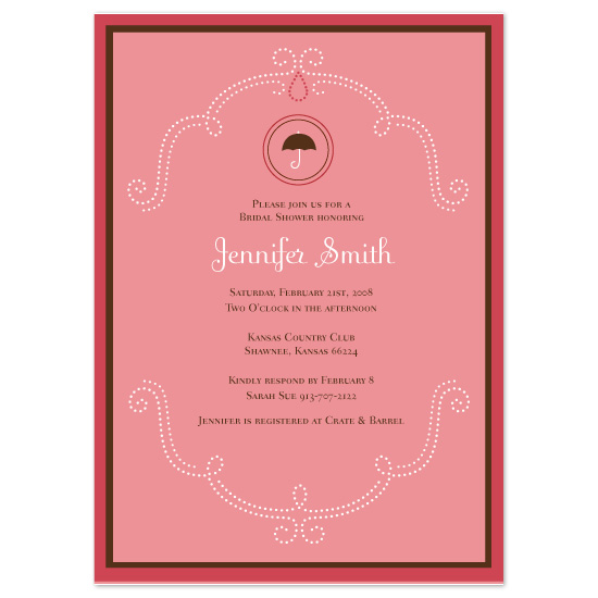 bridal shower invitations - Sweet Shower by Orange Blossom Ink
