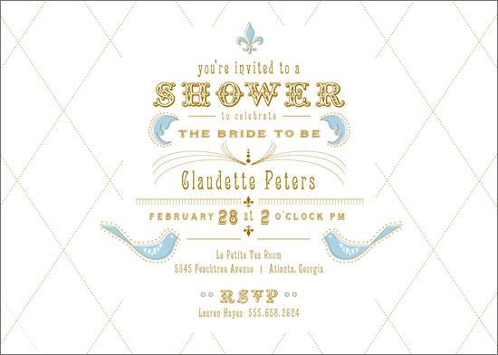 bridal shower invitations - petit l'un by Andrea Mentzer