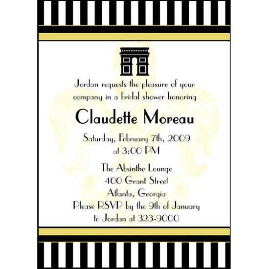 bridal shower invitations - Parisian Stripes by Far-Far Design