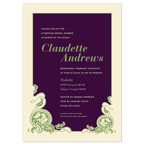 bridal shower invitations - Paris Nouveau by Sweet Paper Studio