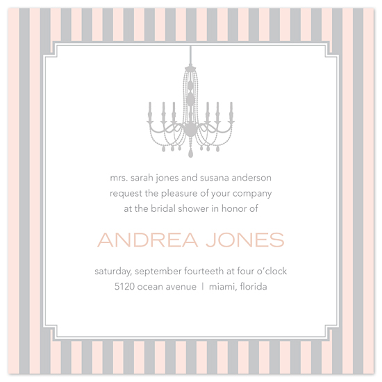 bridal shower invitations - Modern Chandelier by Sweet Paper Studio