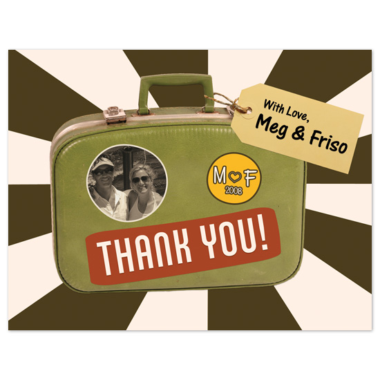 thank you cards - Souvenir Suitcase by Fred Designs