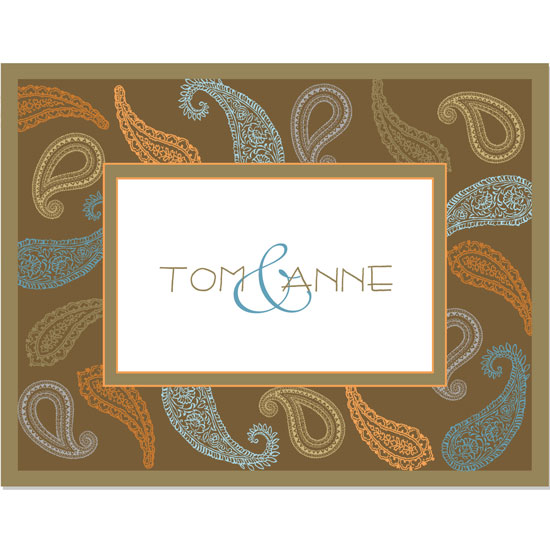 thank you cards - fall paisley by pook&diesel